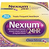 Nexium 24HR ClearMinis Delayed Release Heartburn Relief Capsules, Esomeprazole Magnesium Acid Reducer (20mg, 42 Count)