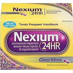 Nexium 24HR ClearMinis Delayed Release Heartburn Relief Capsules, Esomeprazole Magnesium Acid Reducer (20mg, 42 Count)
