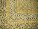 Moroccan Foulard Tapestry Cotton Spread 106'' x 70'' Twin Yellow
