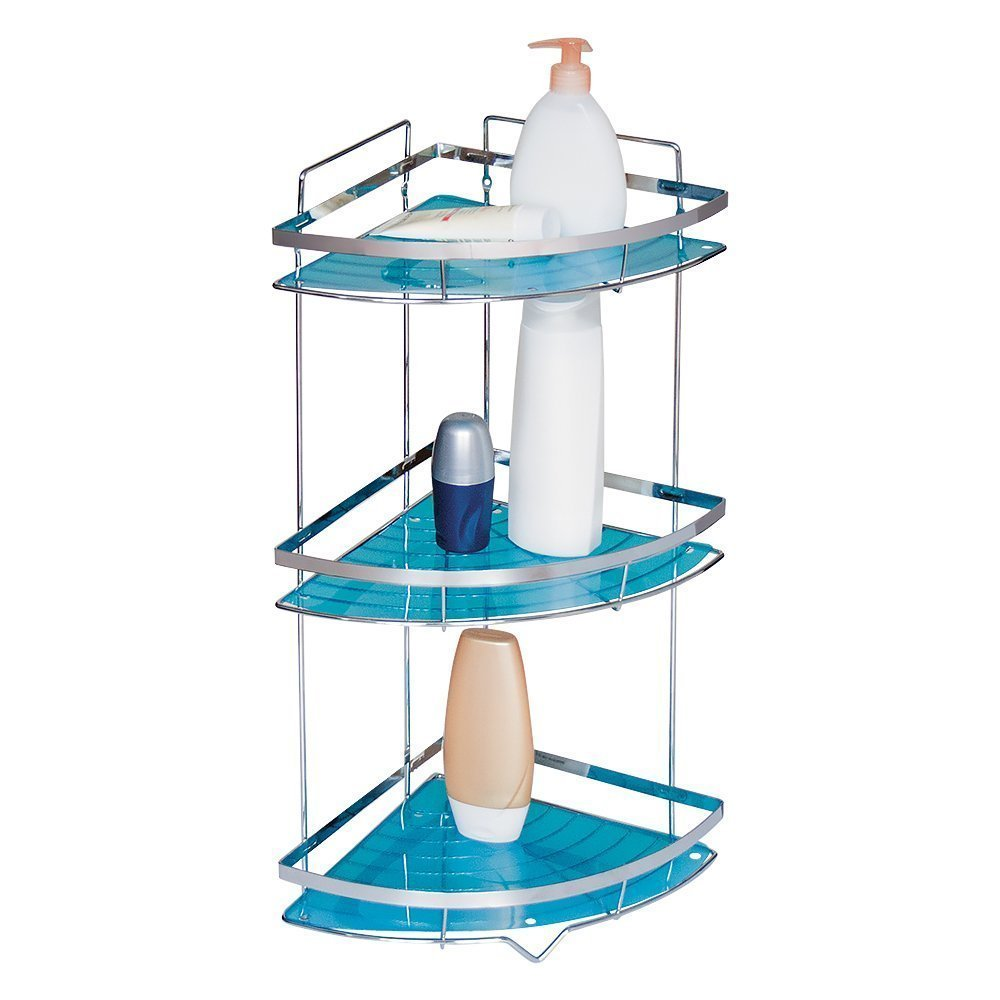 Amazon.com: Tatkraft Kanzler Bathroom Corner 3-Tier Shelf Shower ...