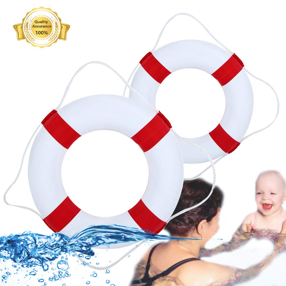 Lshylock Swim Foam Ring,Buoy Swimming Pool Safety Life Preserver with Perimeter Parent-Child Swim Ring Adult Child red by Lshylock