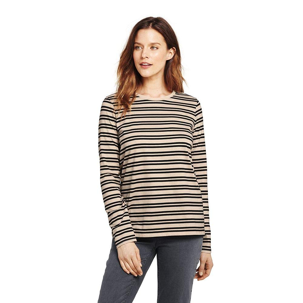 99abf0831b Lands  End Women s Tall Relaxed Cotton Mock Turtleneck at Amazon Women s  Clothing store