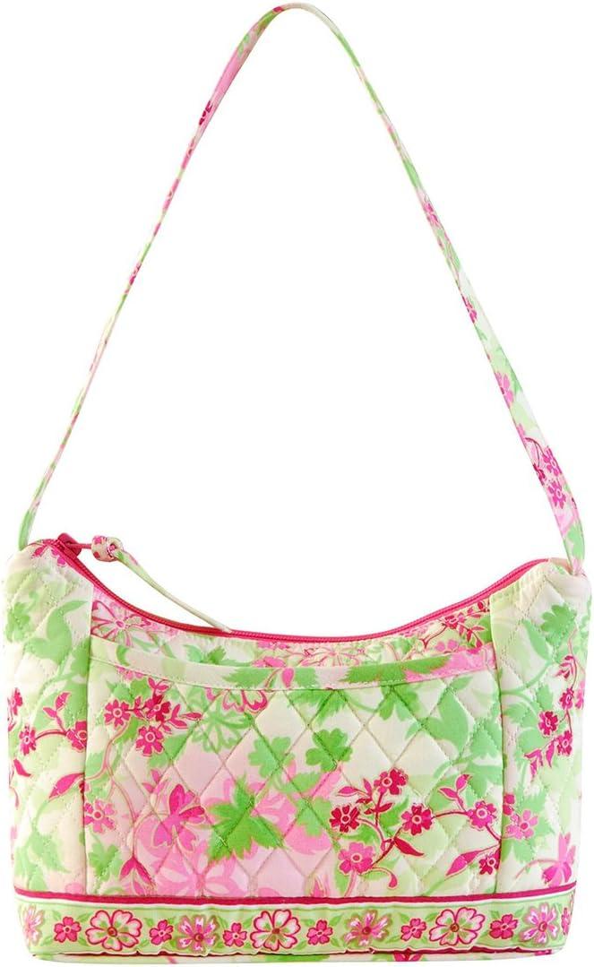 C&F Home Eden Pink Green Floral Flower Quilted Purse Tote Shopper Bag Shopper Bag Eden