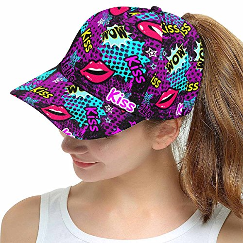 d683e1df2d1b6 INTERESTPRINT Mosaic Colorful Snapback Hats for Men Hip Hop Hats Flat Brim  Hats Flat Bill Caps Adjustbale Unisex at Amazon Women s Clothing store