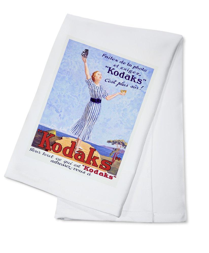 Kodaksヴィンテージポスター(アーティスト: marvasi )フランスC。1937 Cotton Towel LANT-59682-TL B018OBGHTO  Cotton Towel