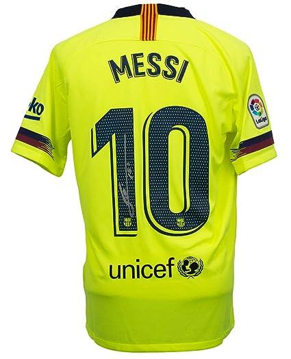 promo code 4dbcc 2b09f Lionel Messi Signed Nike Barcelona Away Soccer Jersey Medium ...