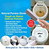 Pumice Cleaning Stone with Handle,4 Pack Hard Water Remover, Stains and Paint& Pool Tile Cleaner Brush for Toilet/Kitchen/Grill/Bath/Spa/Tile
