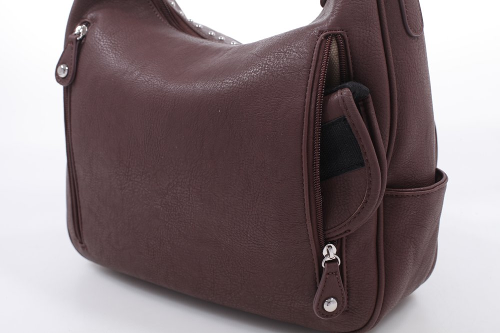 Emperia Roxie Dual Buckle Concealed Carry Hobo Bag