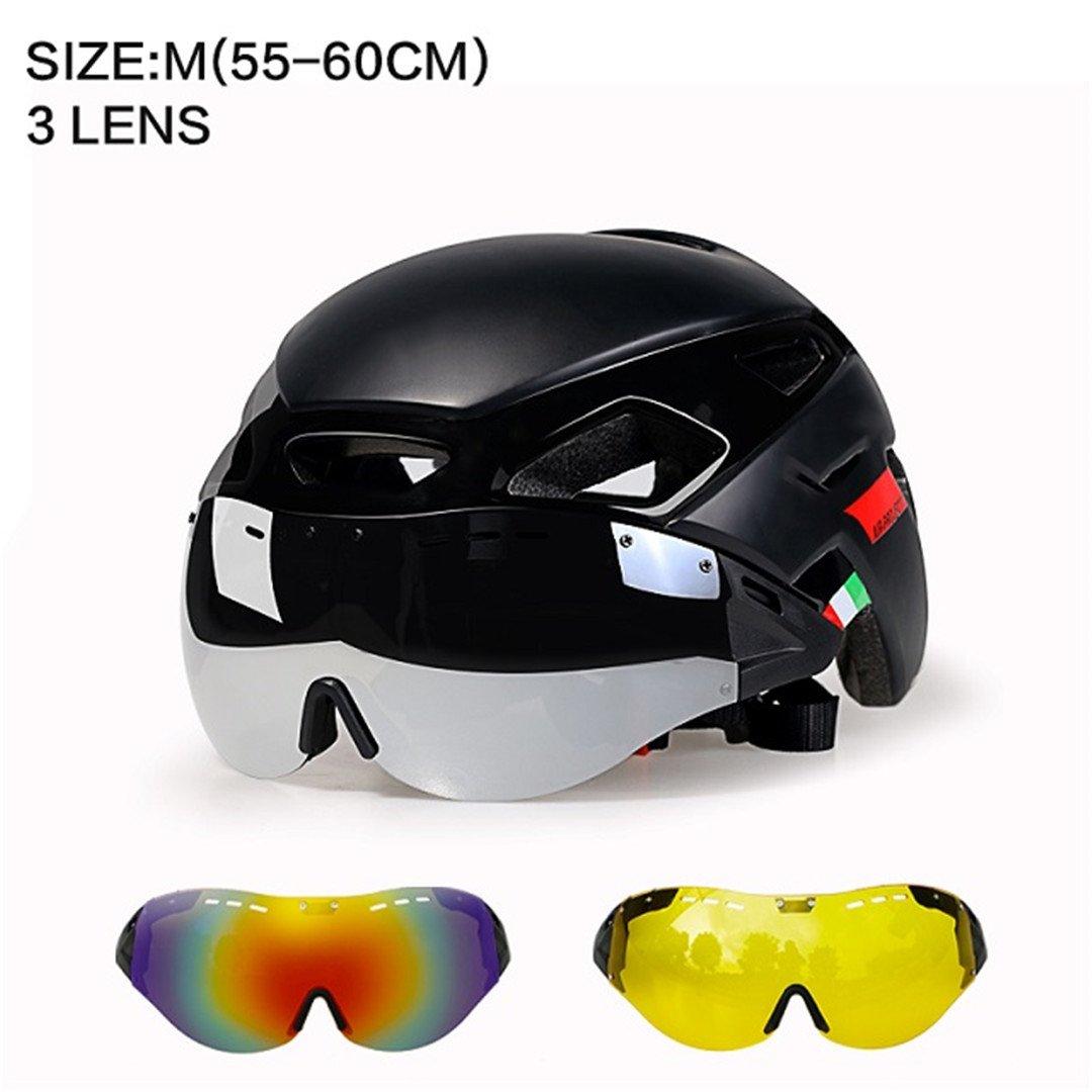 Karneho Radfahren Licht Helm MTB Rennrad Helm Fahrradhelm Geschwindigkeit Airo RS Ciclismo Brille Sicher