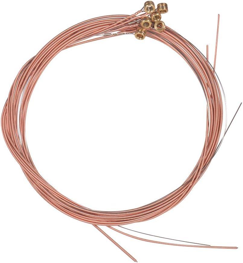 Kalaok Cuerdas para guitarra acústica popular con bobinado de aleación de cobre y núcleo de acero, 6 piezas/juego