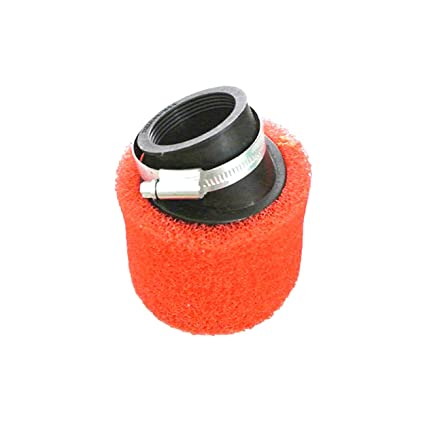 Red 38mm Bent Angled Foam Air Filter Pod 125cc Pit Quad Dirt Bike Atv Buggy Automobiles & Motorcycles Atv,rv,boat & Other Vehicle
