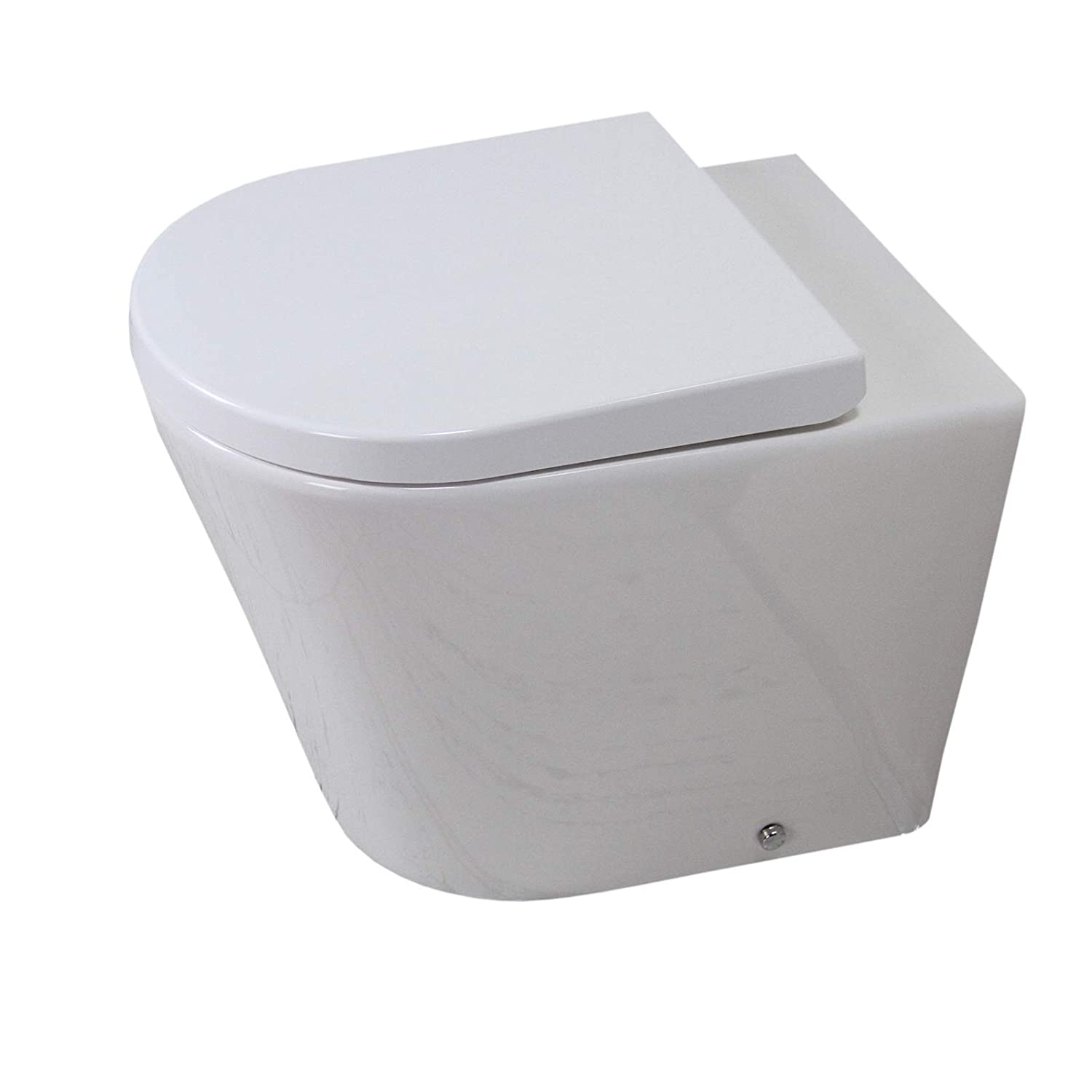 KLARA Toilet WC Bathroom Back to Wall Ceramic Rimless Soft Closing Seat Cover