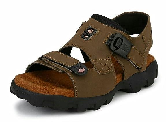 AUSTIN JUSTIN Men's Leather Floater Men's Fashion Sandals at amazon