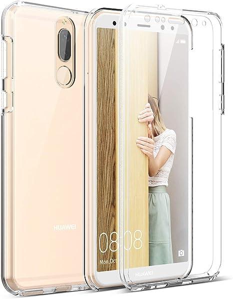 Winhoo per Cover Huawei Mate 10 Lite Custodia 360 Gradi Full Body Rigida Protettiva Protezione per Schermo Morbida Silicone TPU Ai Graffi Antiurto ...