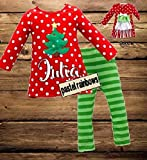 SHIPS FAST-Girls Personalized Christmas Outfit-SHIPS FAST