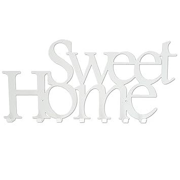Perchero de Pared con 7 Ganchos Sweet Home Blanco