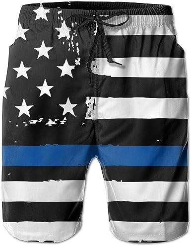 HZamora/_H Mens Cool Blue Skulls Summer Breathable Quick-Drying Swim Trunks Beach Shorts Board Shorts