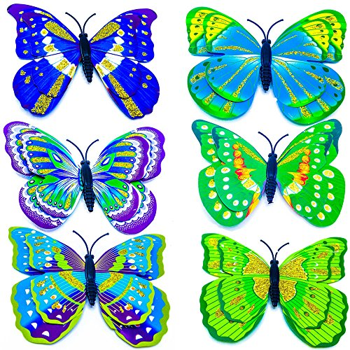 Affluence 6 Pieces Beautifull Butterfly Decoration Magnets 02