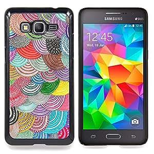 "Pulsar Snap-on Series Teléfono Carcasa Funda Case Caso para Samsung Galaxy Grand Prime G530F G530FZ G530Y G530H G530FZ/DS , Beret colorido Diy Arte"""