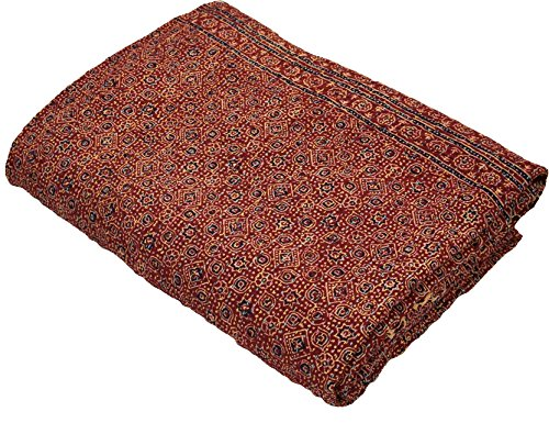 Cotton Indian Quilt Kantha Throw Ralli Gudri, Handmade Ajrakh Kantha Quilt 90x60 Inch, by The Ethnic Crafts (Image #3)