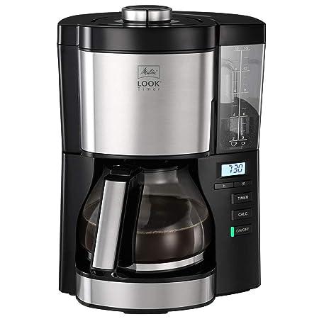 Melitta Look V Timer 1025-08, Cafetera Goteo, AromaSelector, Moderna, Cafetera Programable, Depósito de Agua Extraíble, Protección 3 en 1 Anti Cal, ...