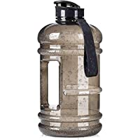 2.2L Plastic Water Bottle Large Capacity with Carrying Loop BPA Free Leakproof Jug Container Resin Fitness for Camping…