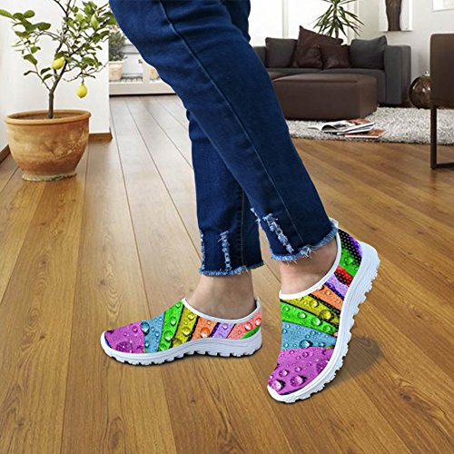 FOR U DESIGNS Fashion Colorful Casual Lightweight Womens Mens Convenient Slip on Walking Running Shoes Color1 ShCmvm