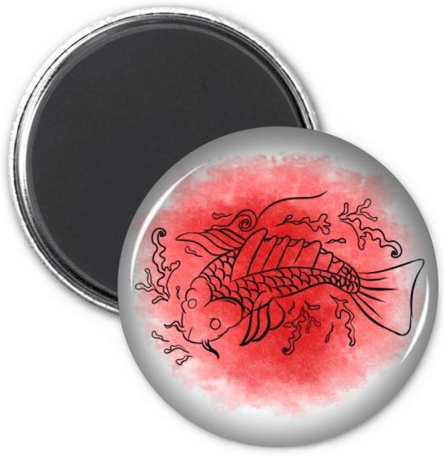 Japan Culture Goldfish Illustration Refrigerator Magnet Sticker Decoration Badge Gift
