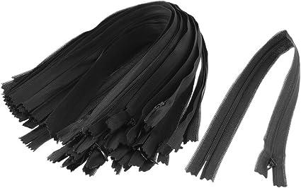 """Cierre-end Cremallera Negro x1 x5 x10 máxima calidad con descuento 8/"""" 8 pulgadas 20 cm Tejida De Cremallera"""