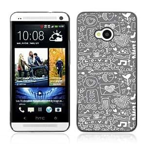 YOYOSHOP [Cool Hipster Love Pattern] HTC One M7 Case by icecream design