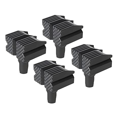 Silverline 548885 Topes de Banco, Negro 4pk Set de 4 Piezas