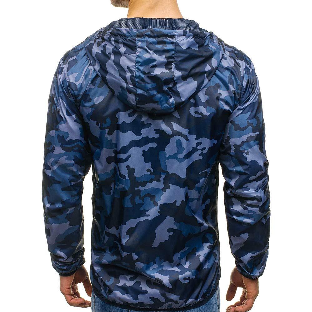 FRAUIT Herren Winterjacke M/änner Camouflage Kapuzenpullover Mantel Zipper Hoodies Jacke Mantel Mode Slim Tasche Fit Wundersch/ön Super Qualit/ät Streetwear Kleidung Top Outwear Coat Bluse