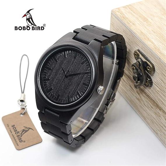 HWCOO Hermosos Relojes De Madera Reloj de Madera Bobo Bird Wood Table (Color : 1): Amazon.es: Relojes