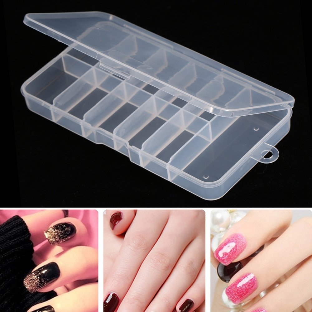 Nail Tip Storage Box, Asixx New Useful Durable Plastic Nail Art Empty Storage Case Holder Container Box Tool Non-toxic Special for Nail Art by Asixx (Image #2)