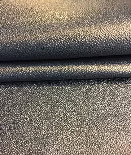 2 oz avg Thickness Blue Leather Hide Upholstery Material Textured Grain Finish 5 sq ft, Blue Home Dec/ór Fabric Soft Natural Lambskin Craft DIY Supply Top Quality Skins