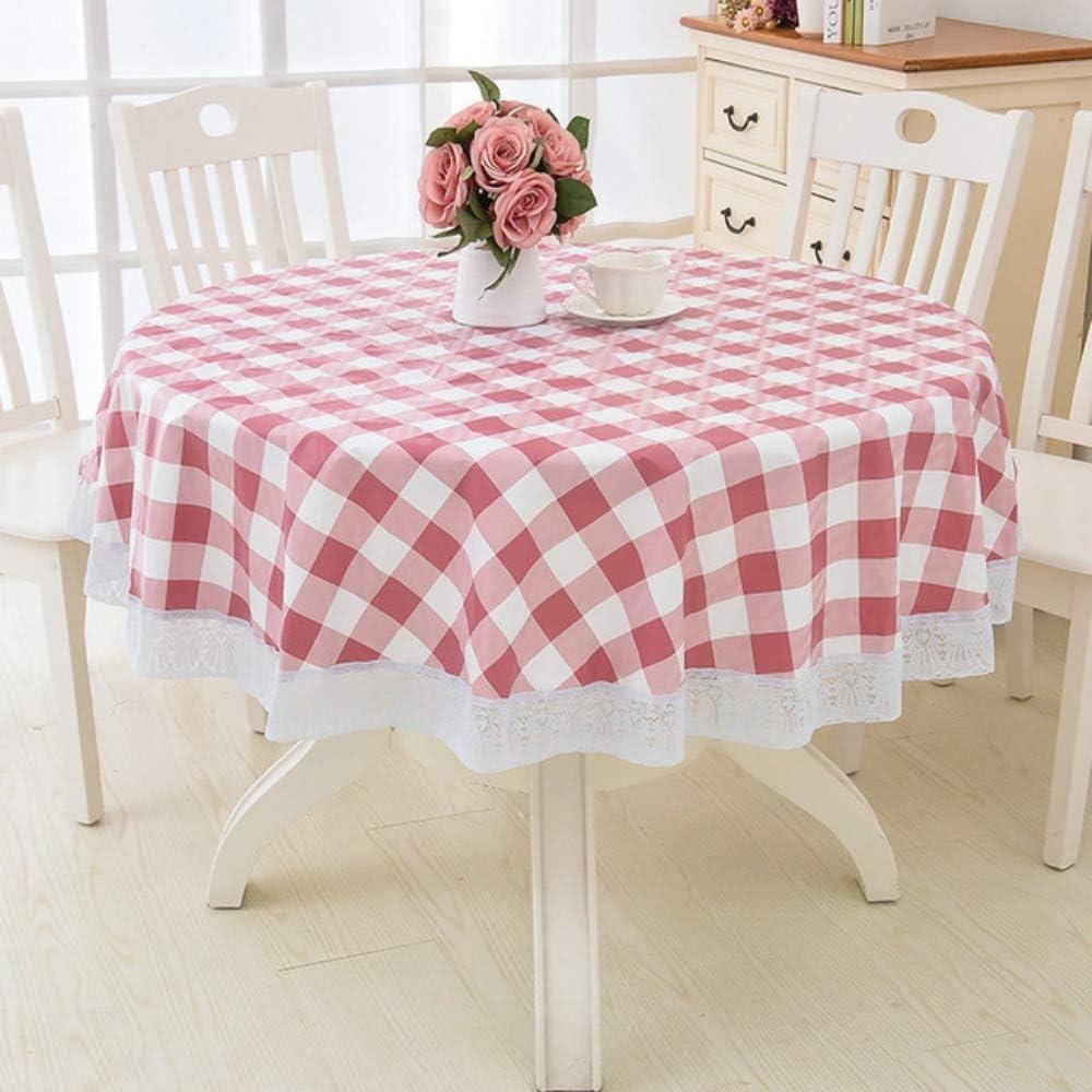 TWTIQ Fleur Style Table Ronde Nappe De Cuisine en Plastique Pastorale PVC en Plastique Cuisine Imperm/éable /À lhuile D/écoratif /Él/égant Imperm/éable en Tissu Couverture De Table color1 137cm