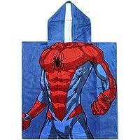 Cerdá 2200003878 Poncho Algodón Spiderman, Azul, 50x115cm