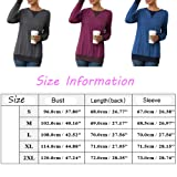 Jedyful Women's Blouses Casual Long Sleeve Crewneck