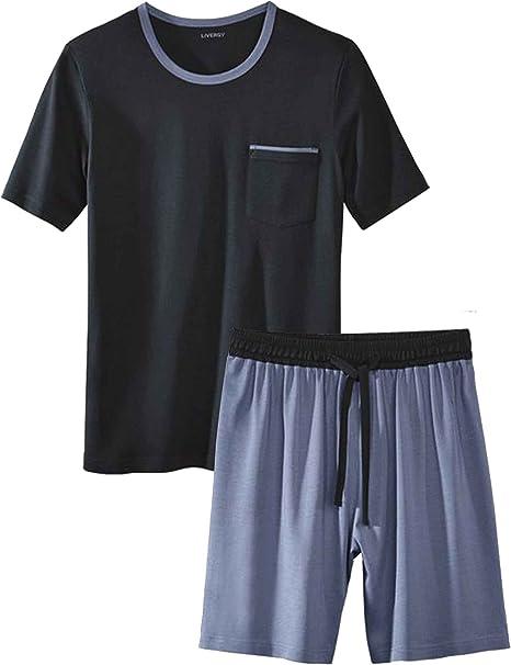 XXL NEU Livergy Herren Sommer Pyjama Schlafanzug Shorty Shirt Schlafhose Gr M