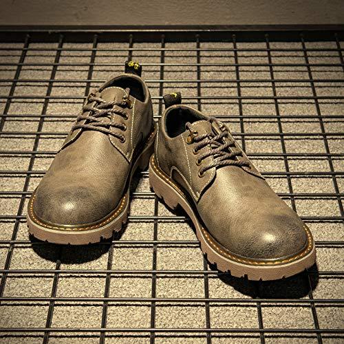 Lianaiec Lianaiec Lianaiec Herrenstiefel Winter Große Kopfhaut Schuhe Kurze Beiläufige Werkzeuge Niedrige Hilfe Martin Stiefel 60dd81