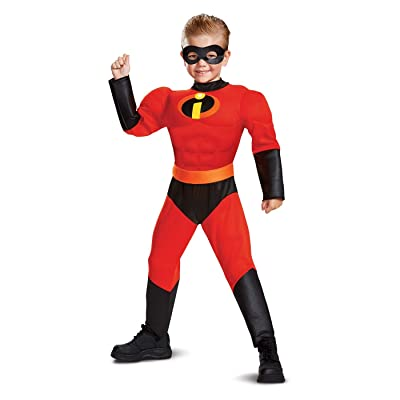Disguise Disney Pixar Incredibles 2 Boys Size Large 10-12 Dash Muscle Costume: Toys & Games