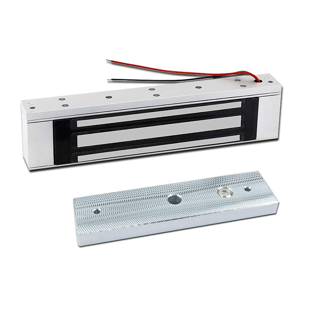 Glass Door Electric Magnetic Lock Anti-Corrosion 180Kg Unique Integrated Low Power Consumption No Noise Silver for Wooden Door Electromagnetic Door Lock