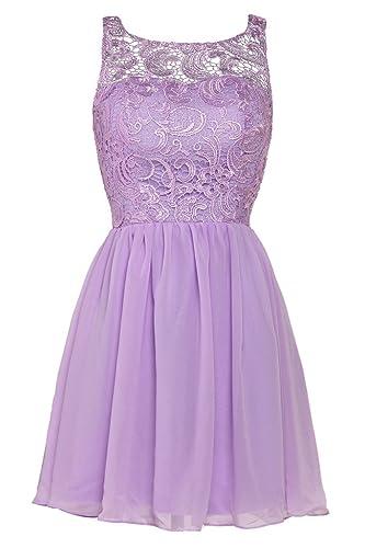 Ellames Women's Lace Bridesmaid Short Prom Dress Homecoming Party Dresses