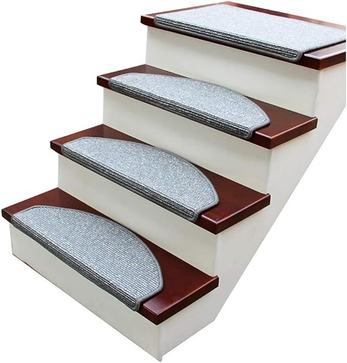 RYP Alfombras de Escalera 5pcs Escalera de Caracol Tread Mat, Antideslizante Escaleras Cojín Cubierta Escalera Protectores, Paso esteras for Piso por Escalera (Color : 3, Size : 75 * 24cm): Amazon.es: Hogar