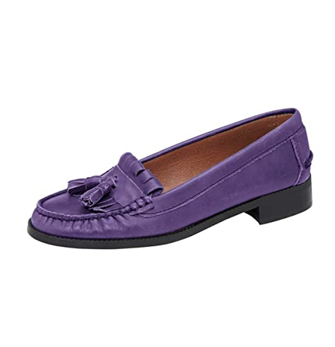 Heine - Best Connections - Mocasines de Piel para mujer Morado morado, color Morado,