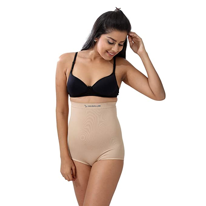 1304763b07 SHAPPON Women s Girl s Nylon Body Shapewear (Cream)(7132SK)  Amazon ...
