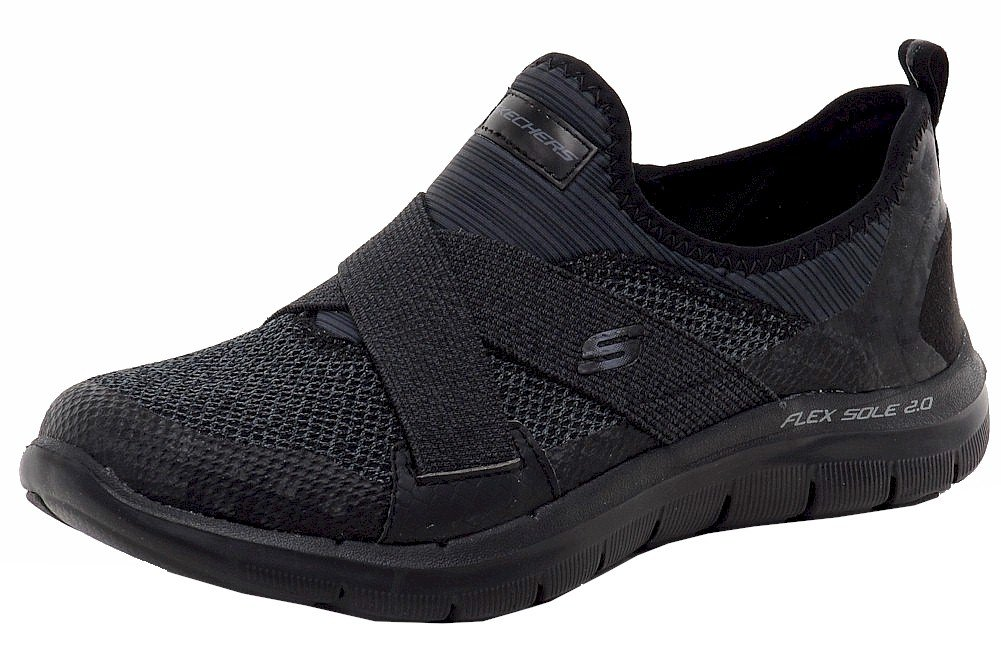 Skechers Womens Flex Appeal 2.0 - New Image Walking Shoe Black Size 8