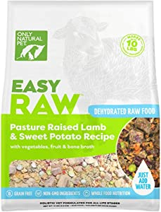 Only Natural Pet EasyRaw Human Grade Dehydrated Raw Dog Food Formula That Contains Real Wholesome Nutrition, Low Glycemic, Paleo Friendly, Non-GMO