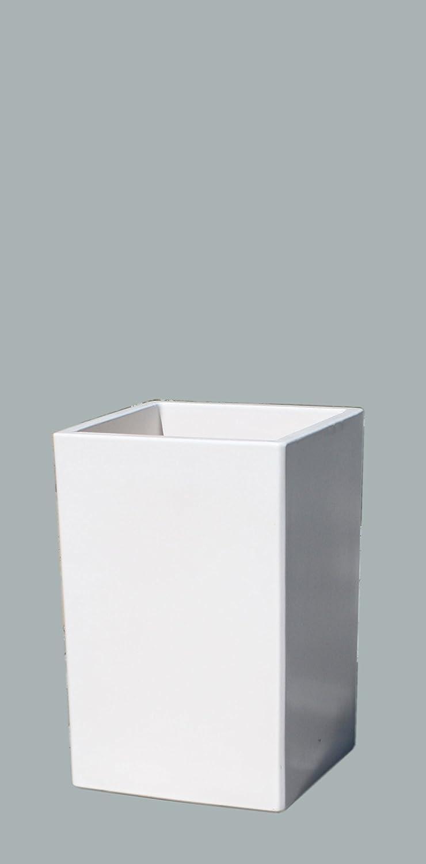 Großer Pflanztopf Pflanzkübel eckig frostsicher Größe L 30 x B 30 x H 46 cm, Farbe weiß, Form 246.046.04 Pflanzkübel quadratisch Qualität von Hentschke Keramik
