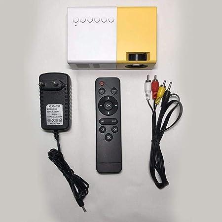 aheadad Mini proyector 1080P, J9 Proyector portátil 2500 lúmenes Miniatura inalámbrica más Brillante Multimedia, proyector de Cine en casa con LED ...